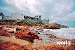 Slaver's fort on the Cape Coast, Ghana