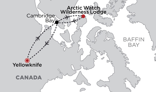 Arctic Watch Wilderness Lodge map