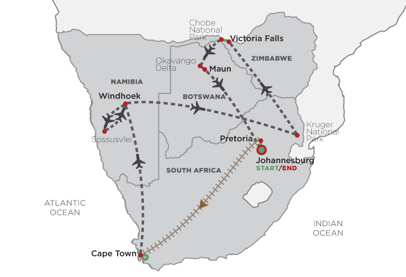 Best Of Southern Africa map