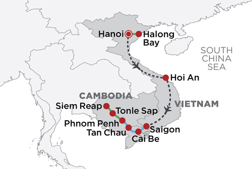 Best of Vietnam & Cambodia map