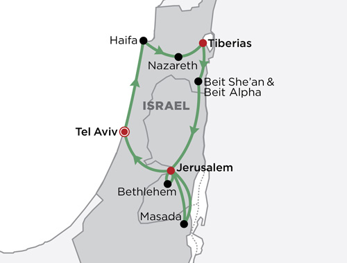 Boutique Israel map