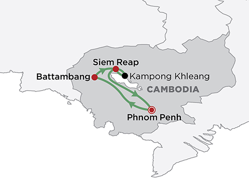 Cambodia Culture & Cuisine map
