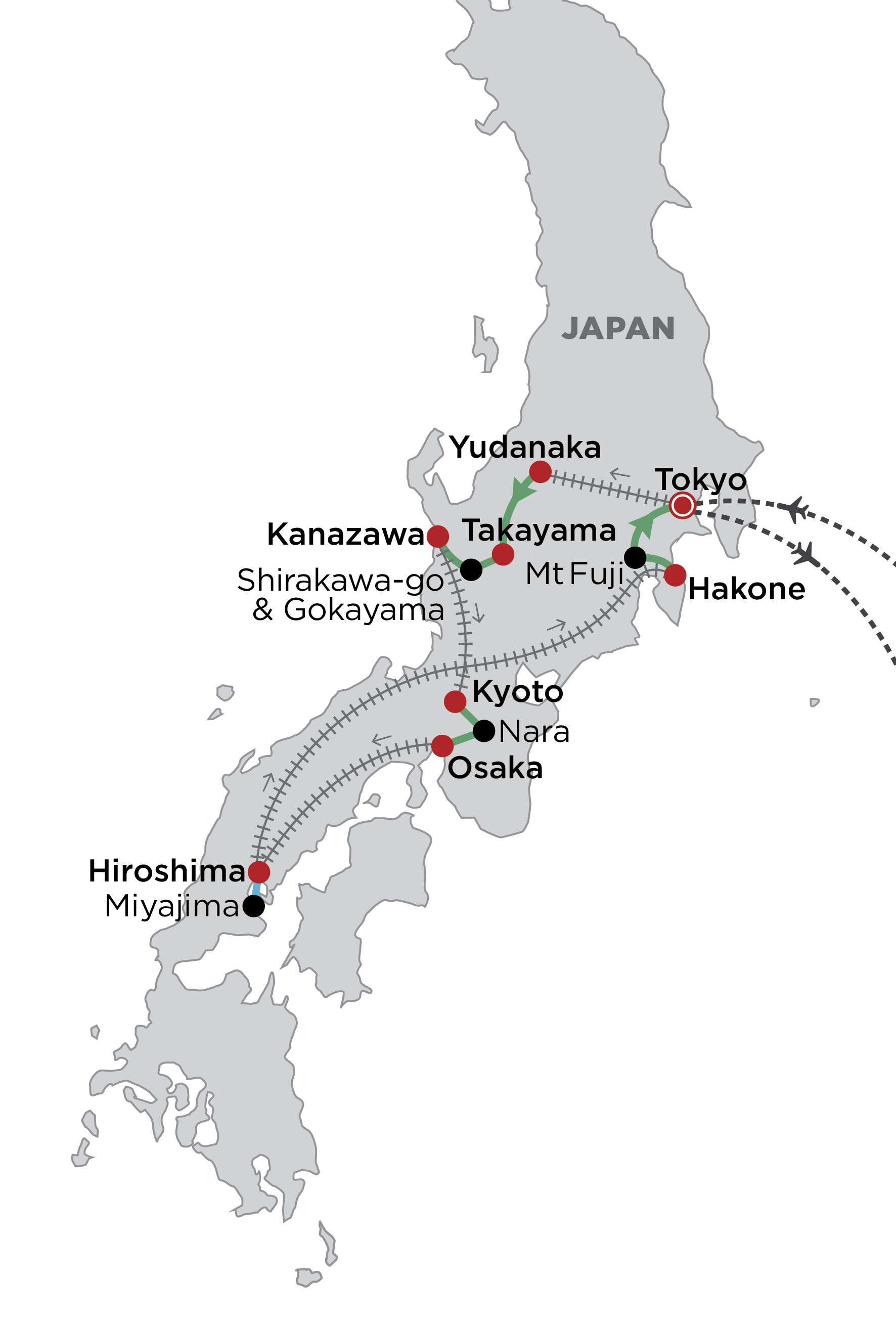 Cherry Blossom Japan, March 2020 map