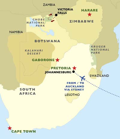 Chobe National Park Extension map