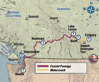 Coastal Passage Highlights map