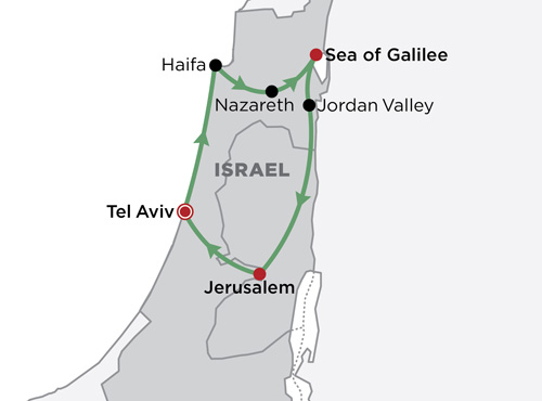 Culinary Tour of Israel map