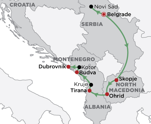 Discover the Balkans map