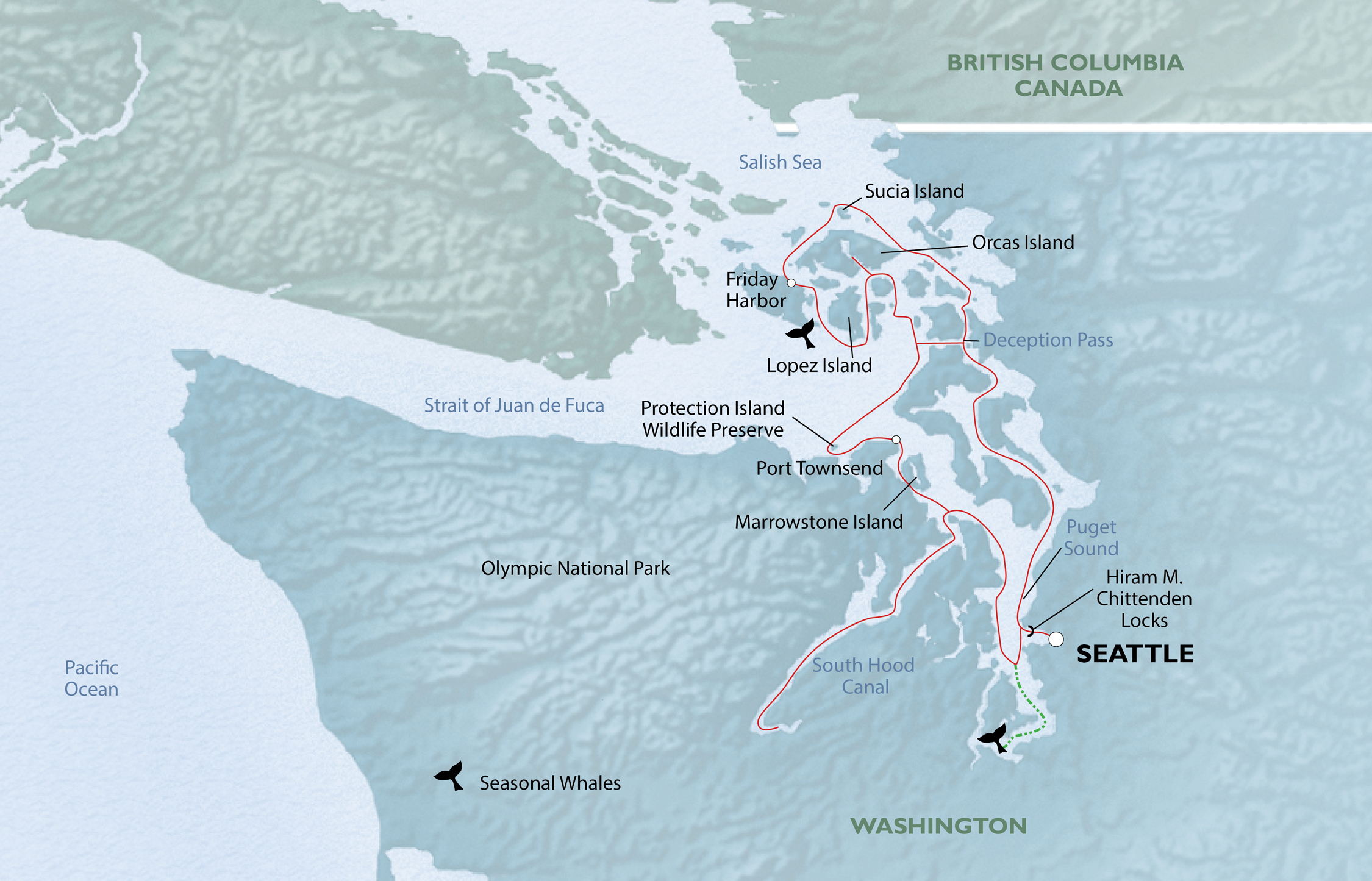 Explore Olympic Wilderness & San Juan Islands map