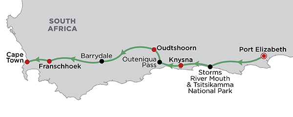 Garden Route Glory map