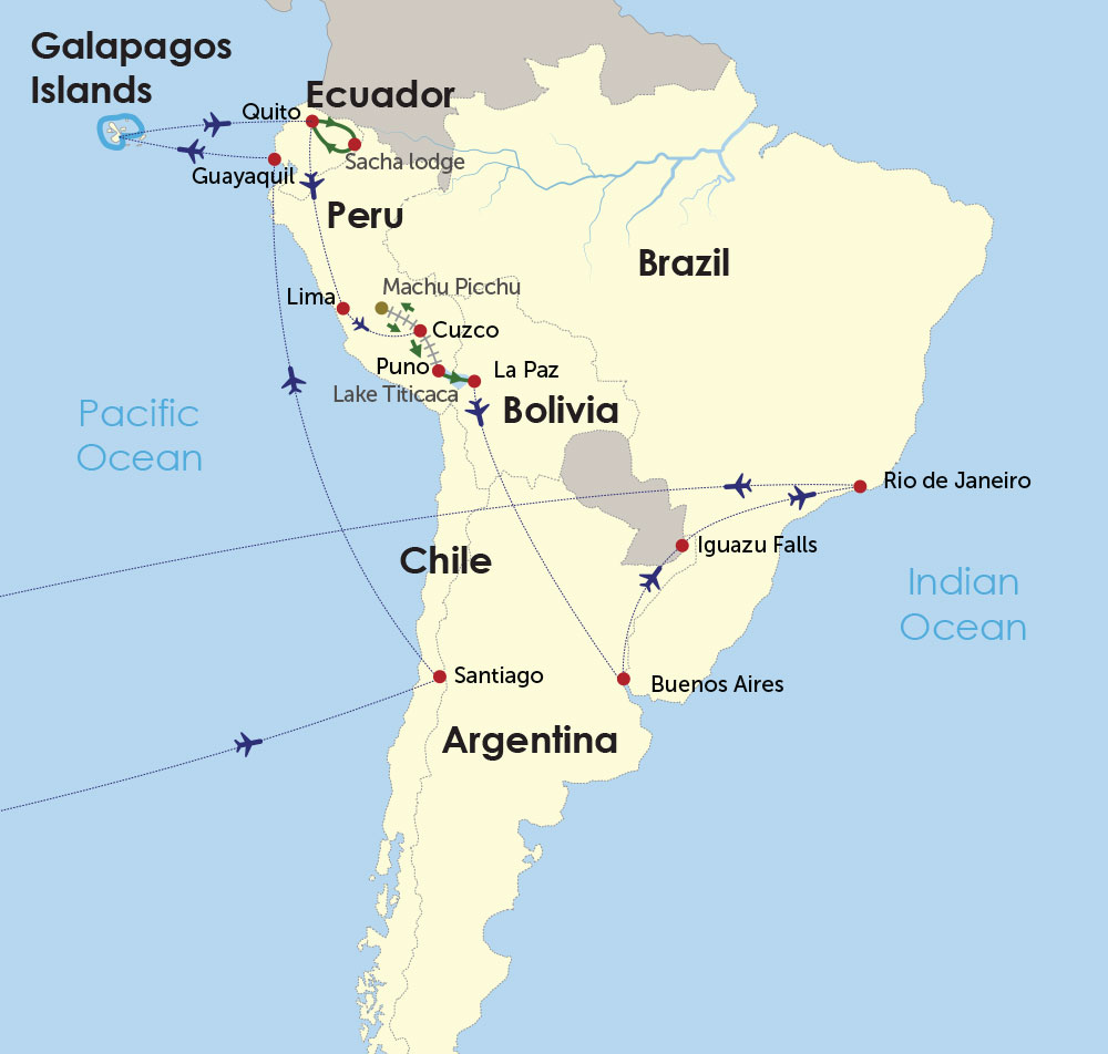 Grand South America  map