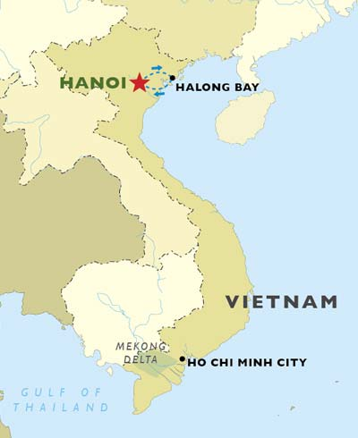 Hanoi & Halong Discovery map
