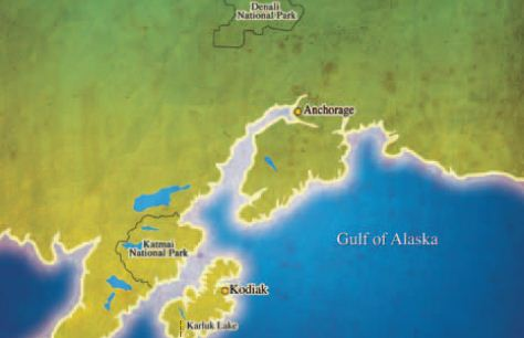 Kodiak Brown Bear Centre map