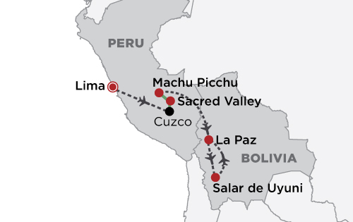 Luxury Peru & the Uyuni Salt Flats map