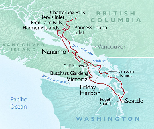 British Columbia's Yachters' Paradise map