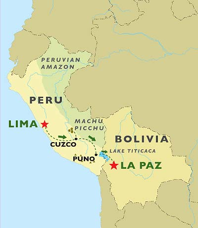 Birthplace of The Incas map