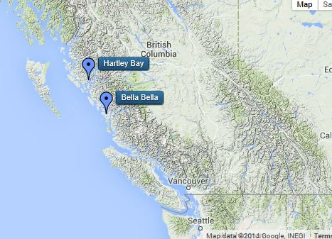 Sailing the Great Bear Rainforest map