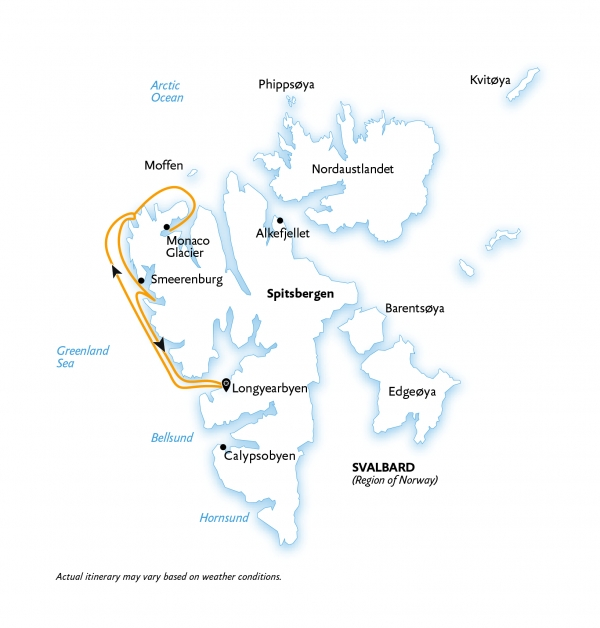 Spitsbergen Highlights map
