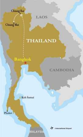 Thailand's Discovery Experience map