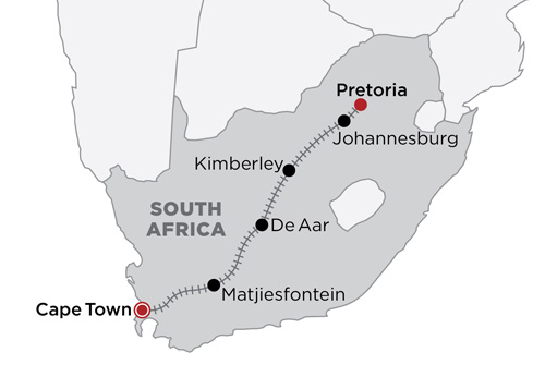 The Blue Train 2019 map
