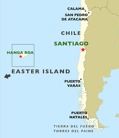 The Chilean Coast & Wine Valleys map