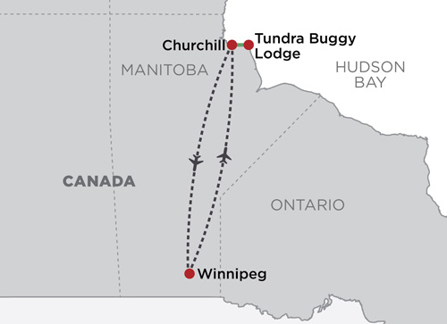 Tundra Buggy Lodge at Polar Bear Point   map