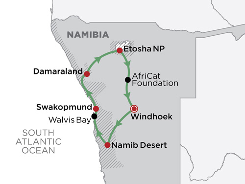 Ultimate Namibia Safari map