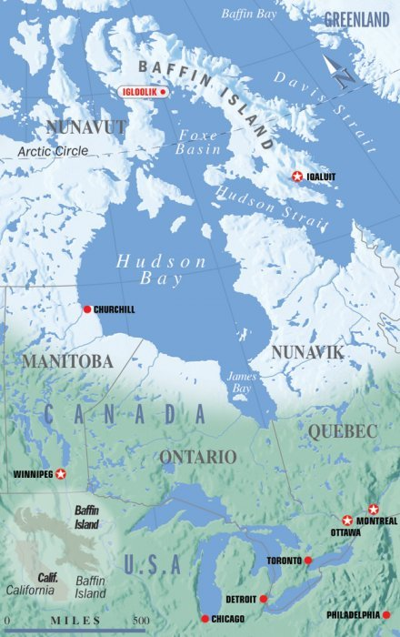Kings of the Arctic: Polar Bears Bowhead Whales & Walrus map