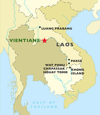 Wat Phou Cruise map