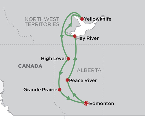 Yellowknife and the Northwest Territories map