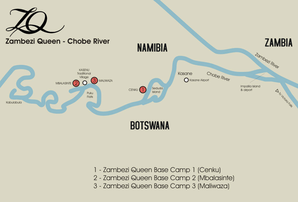 Chobe River Safaris map