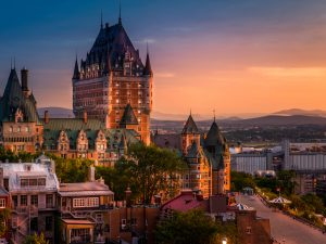 Frontenac Castle, Old Quebec City, Canada