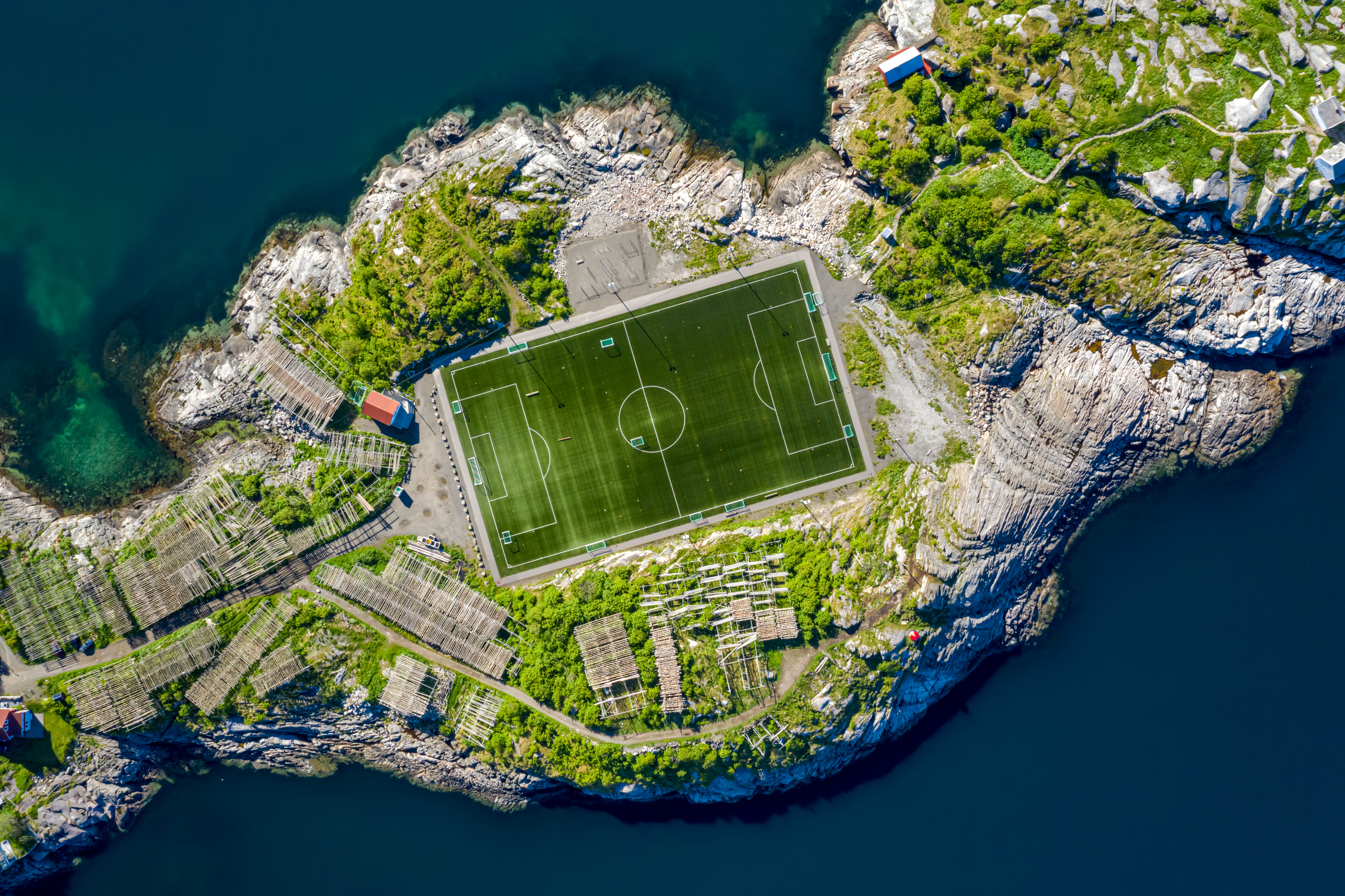 Football stadium in Henningsvaer